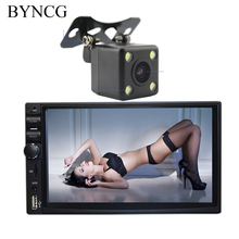 "New 2 Din Car Video Player 7"" HD Bluetooth Stereo Radio FM MP3 MP5 Audio USB Auto Electronics autoradio With Rear View Camera"