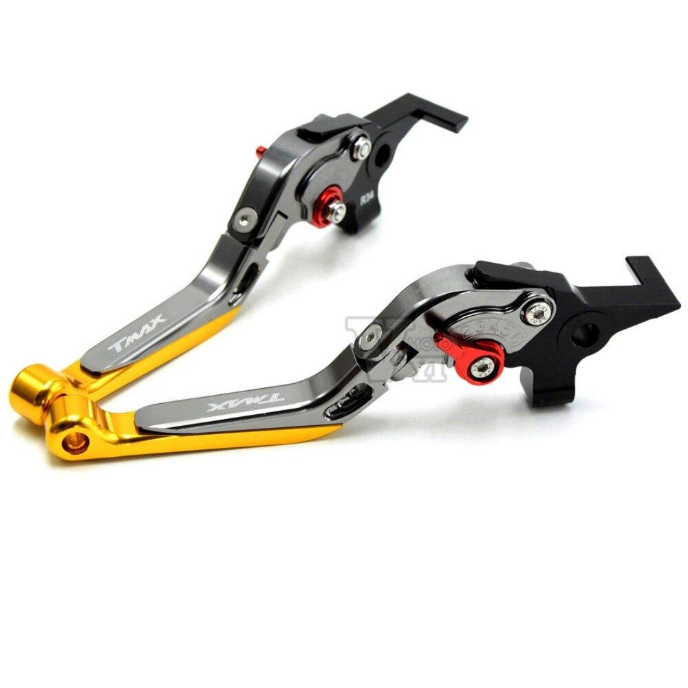 ФОТО CNC Adjustable Motorcycle Brake Clutch Levers For Yamaha TMAX 500 TMAX 530 T-MAX500 T-MAX530 T MAX 500 530