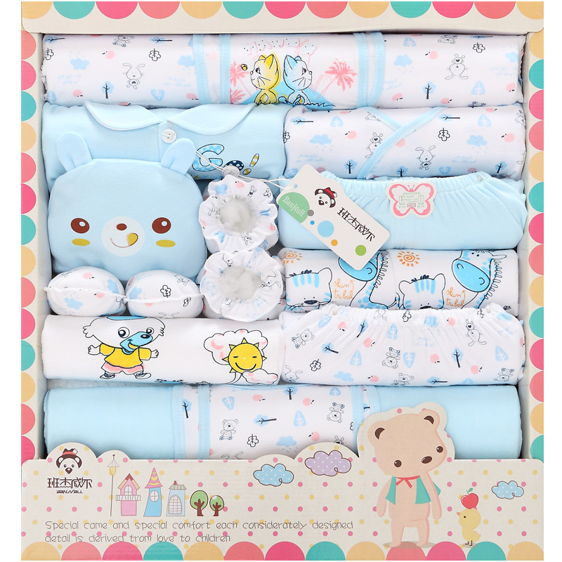 18pcs/Set Blue World Newborn Baby boys Clothes All Seasons Outfits & Sets Accessories