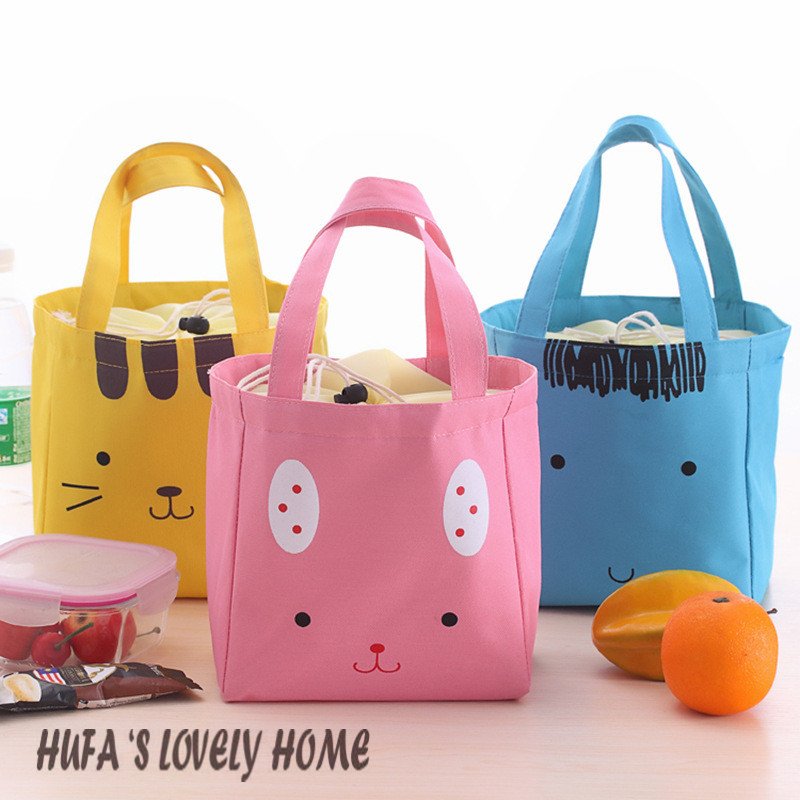 Cartoon Lovely insulated lunch bag animal warmer bag cooler bag isothermic bag with 4 different colors