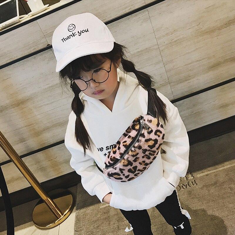 Cute Kids Waist Packs Autumn Winter Plush Baby Girls Leopard Fanny Pack Waist Bag Children Chest Shoulder Bags Phone Belt Bag bulk save goya pinto beans 1lb bag 6 pack 24 to 96 packs each 16oz