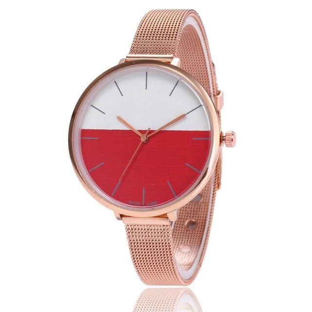 Moda oro rosa fina malla relojes mujeres reloj pulsera relojes de cuarzo de  lujo marca señoras ebb467b9ab96