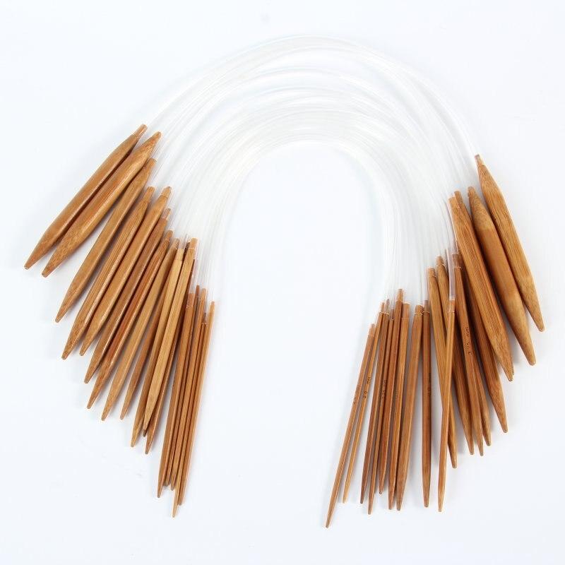 18Pairs 18sizes Circular Nature Bamboo Carbonized Knitting Needles