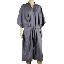 Spa Massage Robe pour Salon de beauté, Kimono Robe pour les femmes Smock Cape Dress sur Hair Dye Shampooing Maquillage Client Vêtements Uniform_Gray