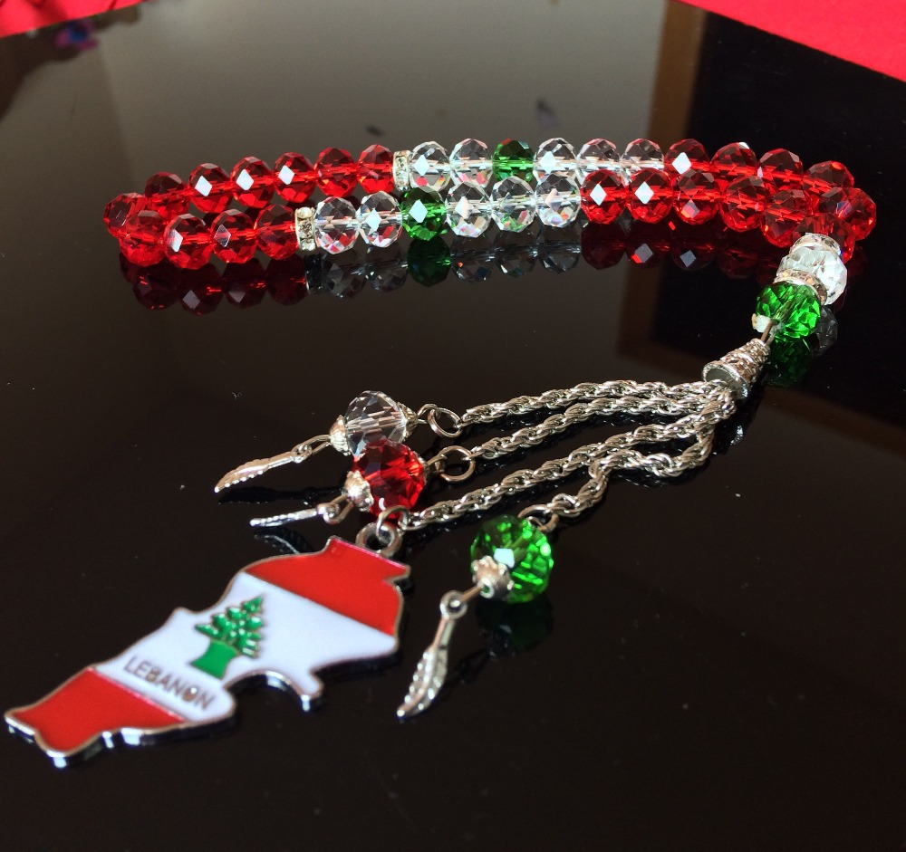 2pclot liban flag map jewelry jewellery lebanon necklace