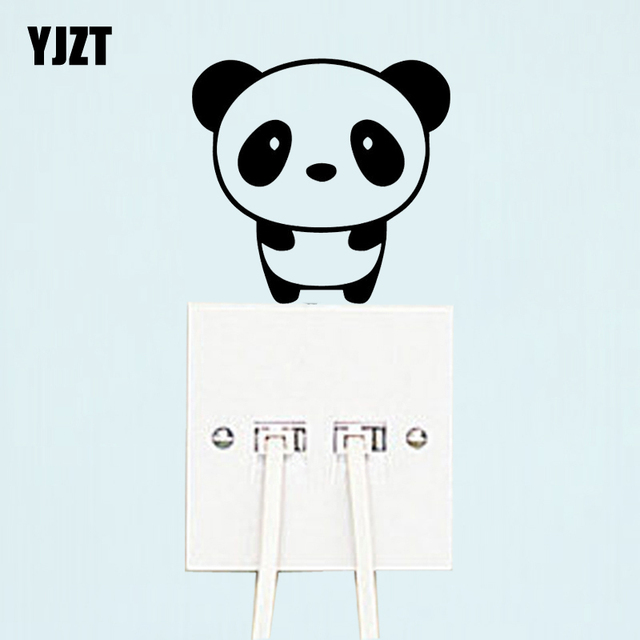 Smart Panda Wall Nice Decal Decor Switch Sticker Cartoon Vinly