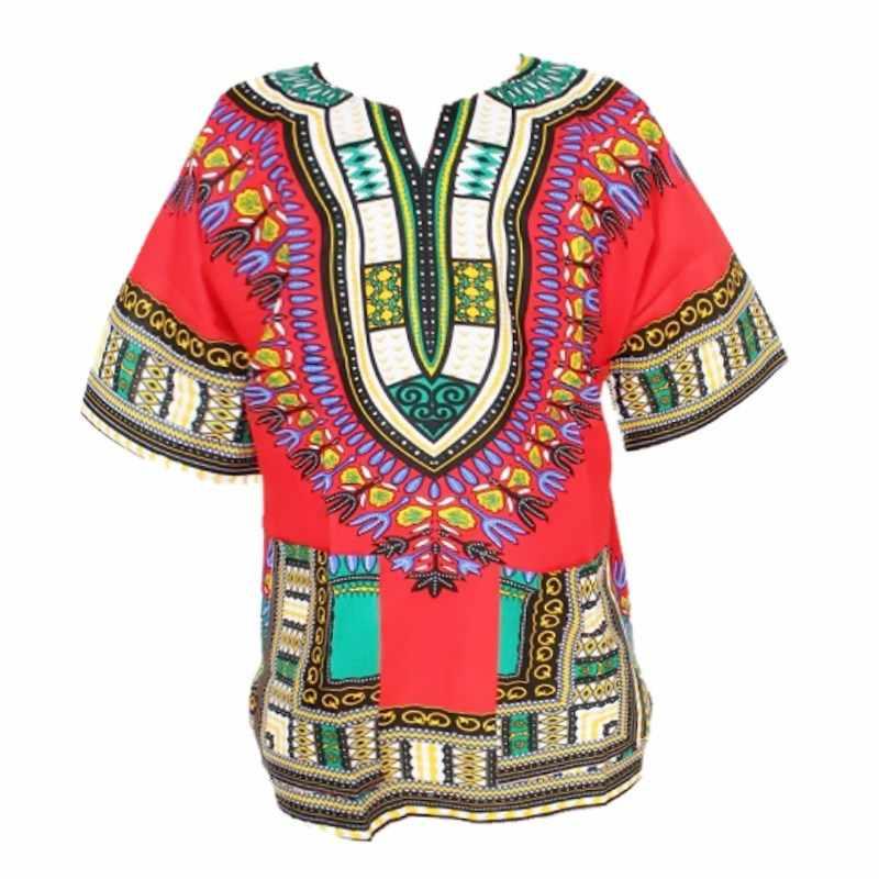 2016 Новый модный дизайн африканская традиционная печать 100% хлопок футболка в африканском стиле для унисекс (быстрая доставка)