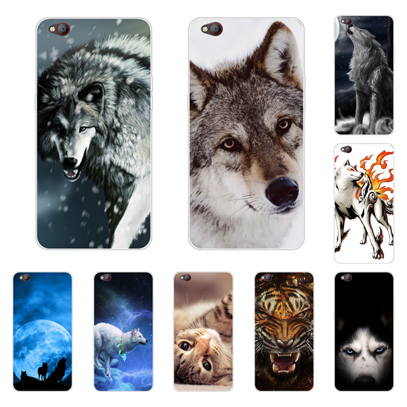 zte nubia m2 lite Case,Silicon Wolf beast Painting Soft TPU Back Cover for zte nubia m2 lite Protect Phone cases shell