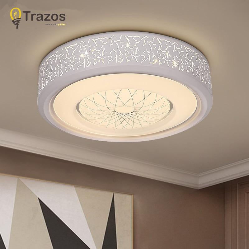 Modern Light Fixtures Ceiling Led Living Room Plafon Lamp Luminarias Para Sala De Jantar Delicate White Black Acrylic Shade