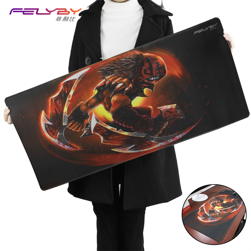 FELYBY DOTA Large Thicken Comfy Waterproof Gaming Rubber Mouse Pad | Precise Smooth Anti-slip Mouse Mat For mouse/Keyboard felyby thick comfortable natural rubber waterproof keyboard mouse pad laptop mouse mat gaming cs gaming mouse pad to dote2