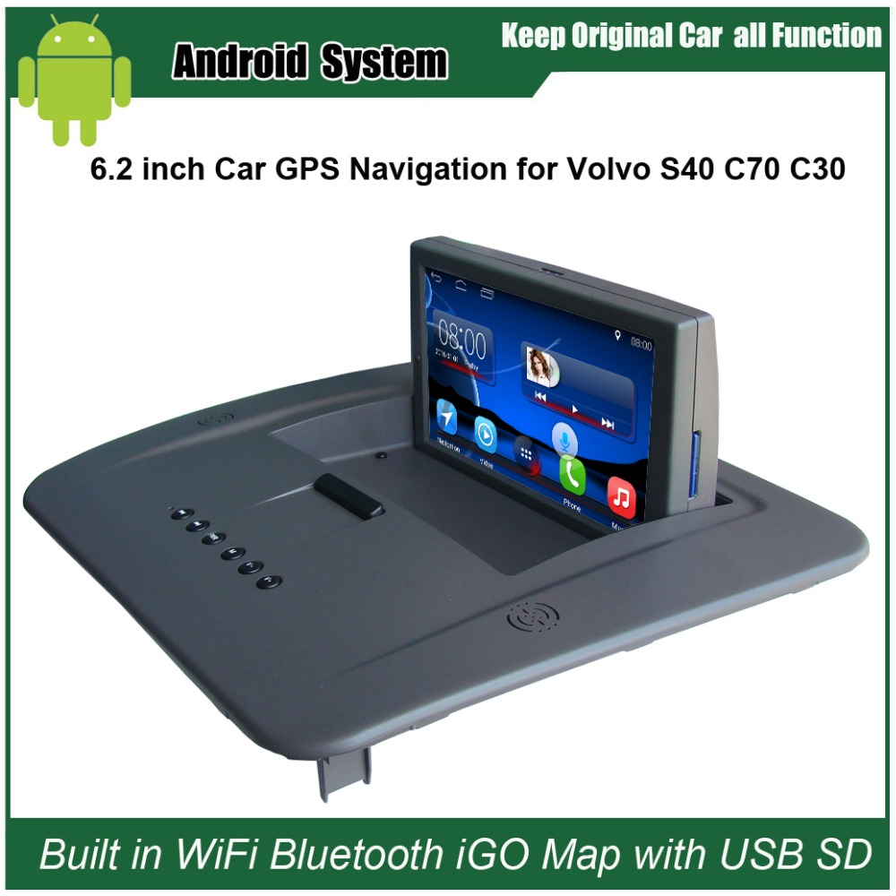 6.2 inch Android 7.1 Capacitance Touch Screen Car Media Player for <font><b>VOLVO</b></font> S40 C30 <font><b>C70</b></font> GPS Navigation Bluetooth Video player image