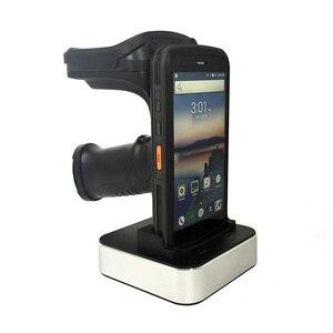 Android 8,1 Qctacore 2,5 ГГц портативный мобильный компьютер Прочный портативный КПК сканер штрих-кода 2D NFC 4G WiFi UHF RFID Считыватель