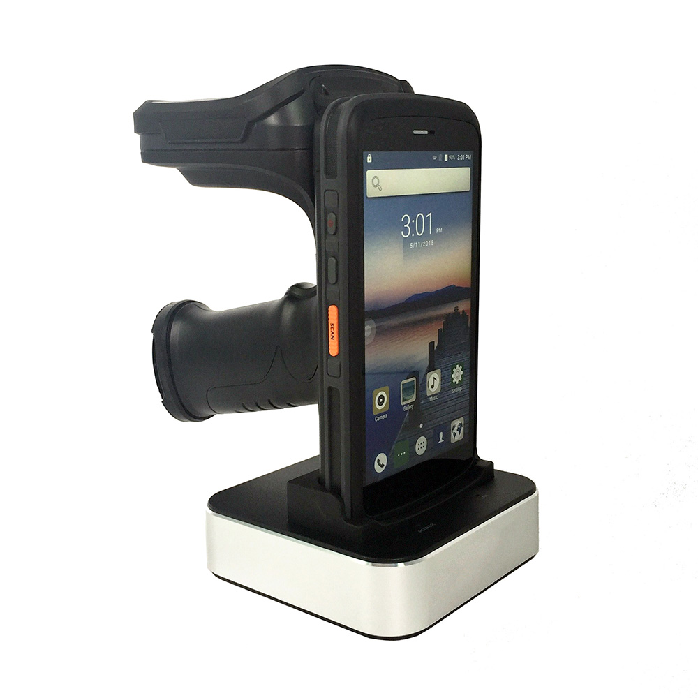 Android 8.1 Qctacore 2.5GHz Portable Mobile Computer Rugged Handheld PDA barcode Scanner 2D NFC 4G WiFi UHF RFID Reader