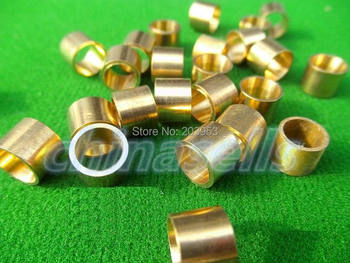 цена на 20pcs billiards snooker copper ferrule brass snooker pool cue ferrules cue accessories 9mm or 10mm
