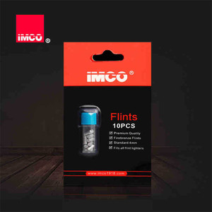 Image 2 - 10 stücke Original IMCO Flints Stones Für Benzin Benzin Leichter Ersatz Spender Feuerzeuge Feuer Starter Echte
