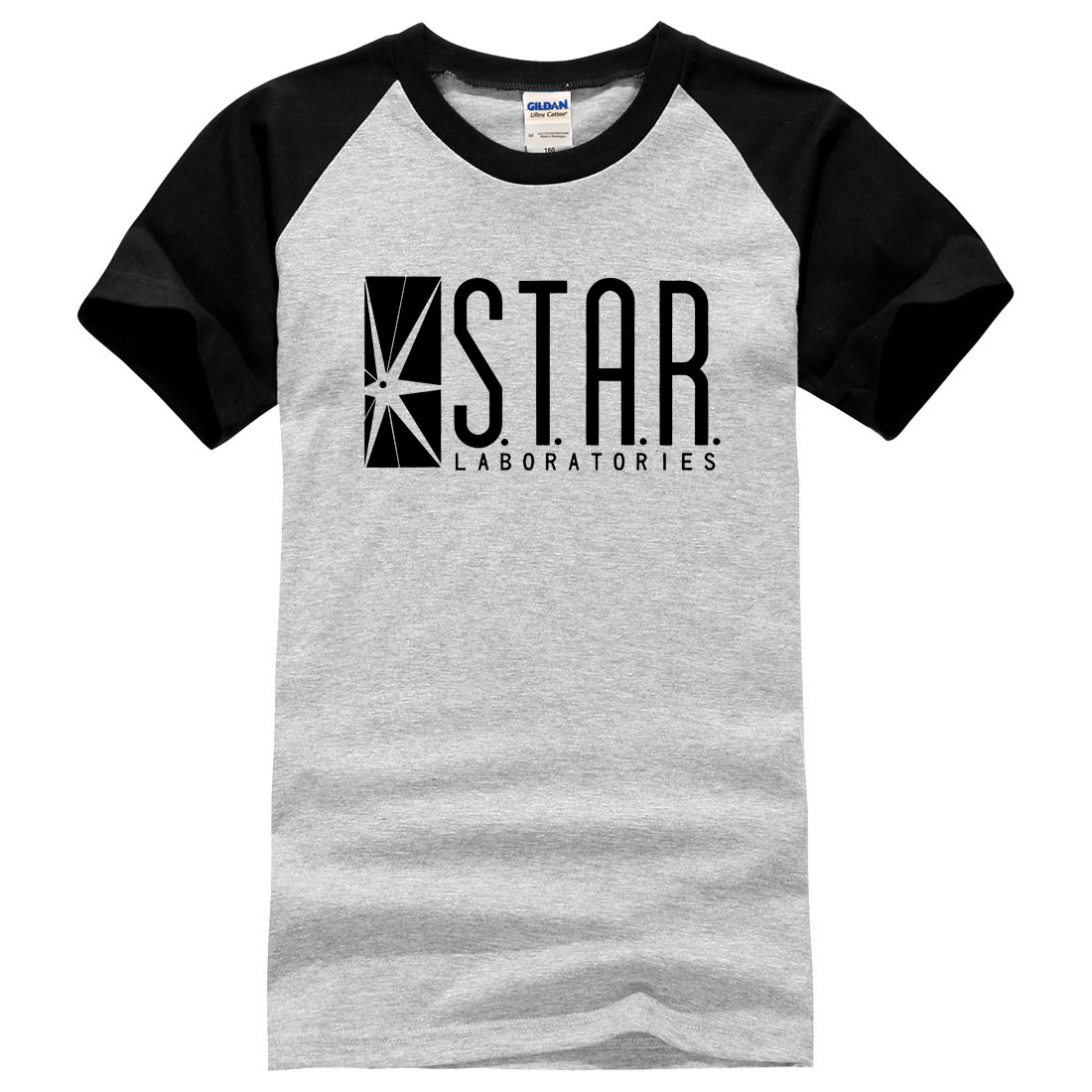 superman series o-neck t shirt men STAR S.T.A.R.labs jumper the flash gotham city comic books black t shirts new fashion summer image