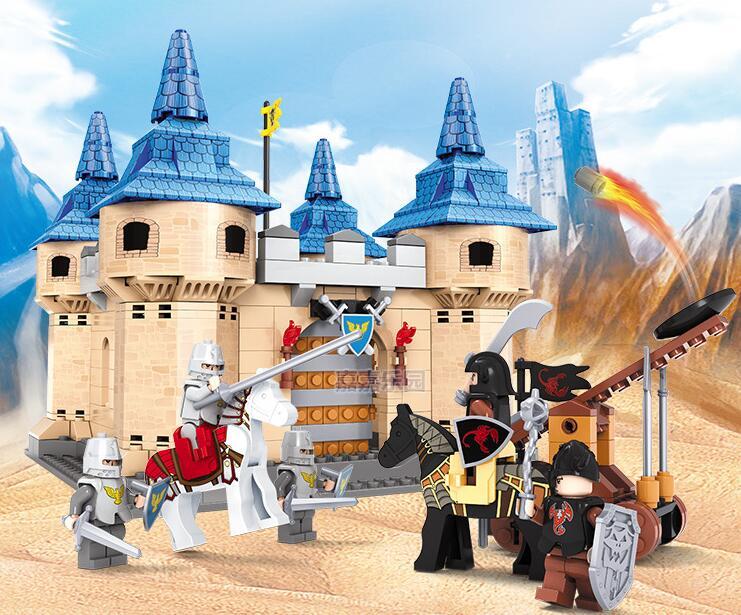 Ausini building block set compatible with lego castle series 057 3D Construction Brick Educational Hobbies Toys