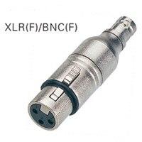 Высокое качество 2 шт./лот 3 pin XLR для женщин BNC Женский адаптер