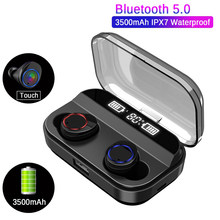 X11 Touch LED Display Wireless Bluetooth 5.0 Earphones 3000mah Power Bank Bluetooth Earphone Stereo IPx7 Waterproof Earbuds(China)