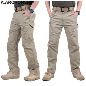 Image 3 - 2017 IX9 Men Militar Tactical Pants Combat Trousers SWAT Army Military Pants Mens Cargo Outdoors Pants Casual Cotton Trousers