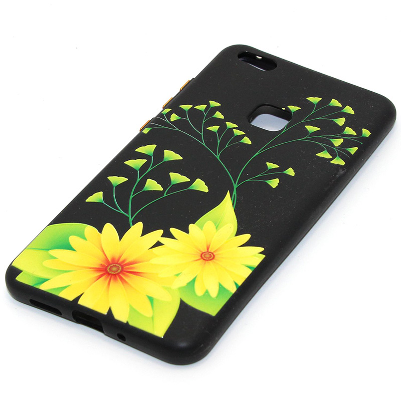 3D Relief flower silicone huawei P10 lite (37)