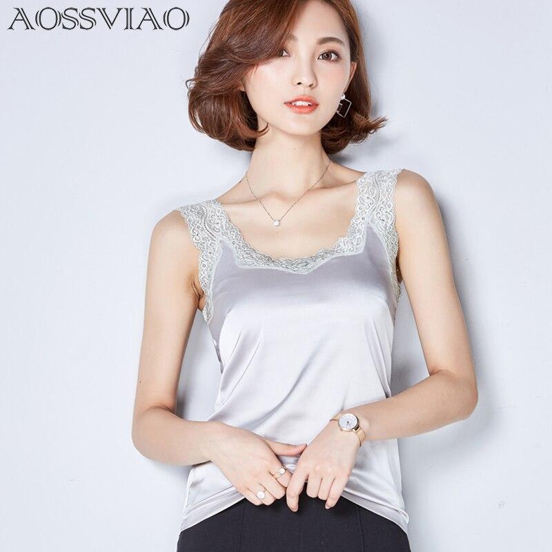 Crop   Top   Clothes Canotta Donna Estiva Tropical womens   tank     tops   2019 Silk Women Shirt Camis Sleeveless Blusa Summer Feminina