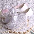 Wedopus Dropshipping Элегантные Женские Летние Сапоги На Высоком Каблуке Белые Свадебные Туфли для Женщин