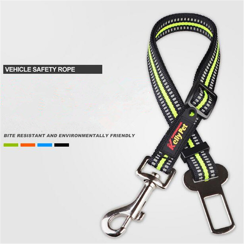 New Pet Dog Cat Car Seat Belt Safety Leads Reflective Nylon Adjustable Vehicle Rope Harness Restraint Leash For Small/Large Dogs