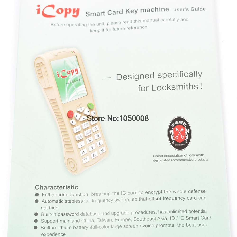 Image 5 - English Version Newest iCopy 3 with Full Decode Function Smart Card Key Machine RFID NFC Copier IC/ID Reader/Writer Duplicator-in Control Card Readers from Security & Protection