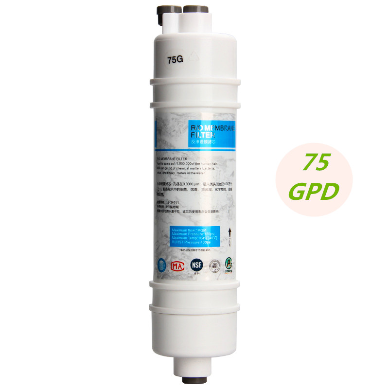 75 Gallon RO Membrane 10 Inch Quick Connect Plug-In 75G RO Reverse Osmosis Membrane Filter For Household Water Purifier Machine все цены