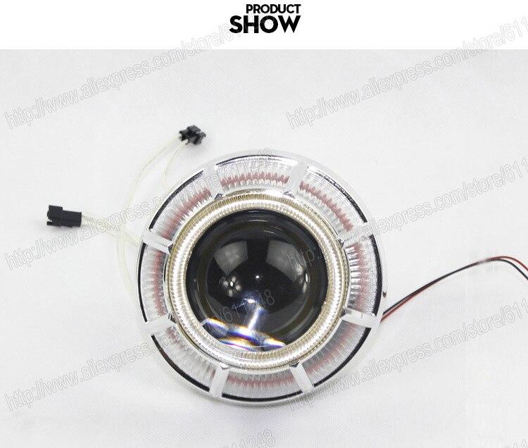 3.0 pouces 35 W voiture H1 H4 H7 Bi xénon projecteur lentille lumières externes jour lumière Led moto voiture phare lentille CCFL Angel Eyes - 3