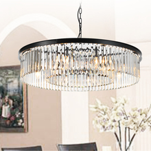 Round Shape Crystal Chandelier Lighting Lustres Luminaires Hanging Light for Restaurant American Style Lamp