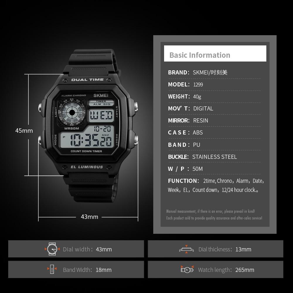 Skmei Sports Watch Men Top Brand Luxury Famous Led Digital Watches Male Clocks Men's Watch Relojes Deportivos Herren Uhren #2