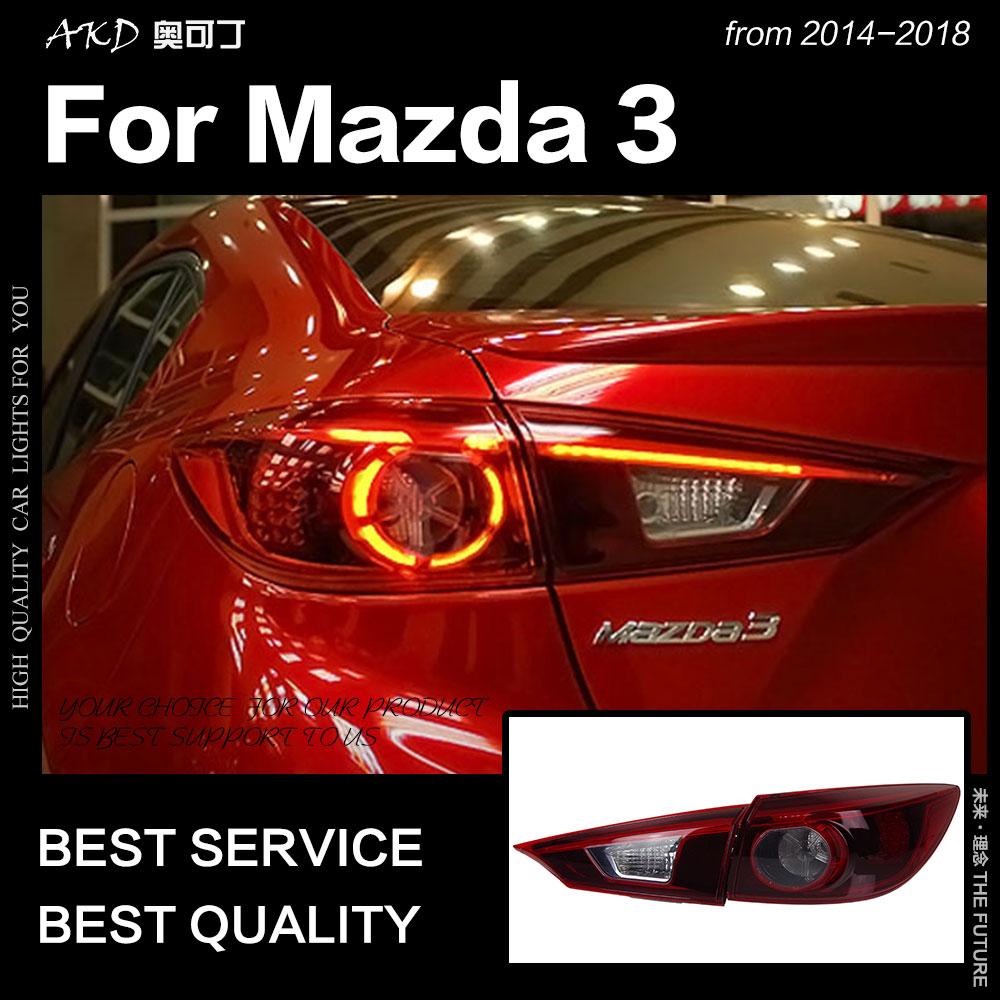AKD Car Styling for Mazda 3 Tail Lights 2014 2018 Mazda3 Axela Sedan LED Tail Lamp