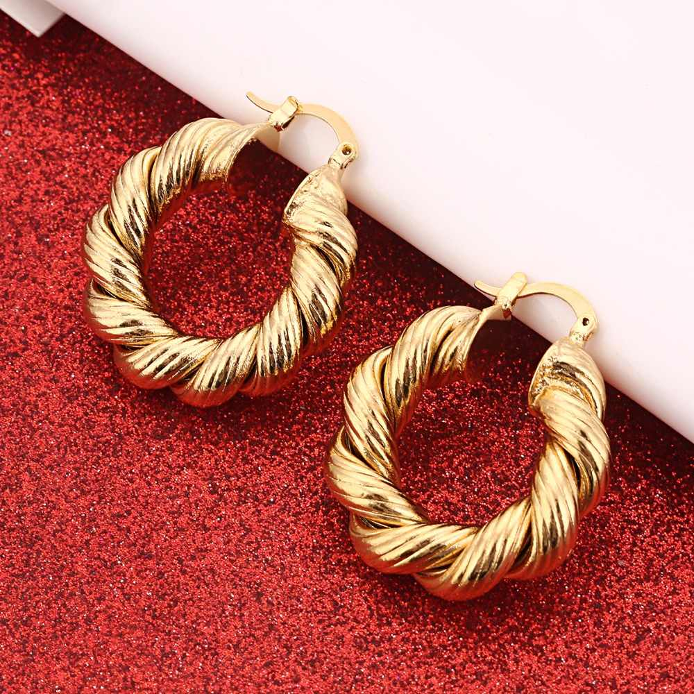 Africa Earrings for Women Gold Color Earrings Girl Jewelry Arab Middle East Gift