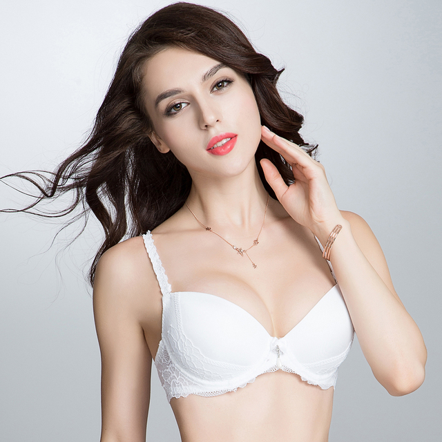 22f62a0c95918 New Year Gift Womens Sexy Lace Push Up Bras A B C D cup White Black Lace  lingerie underwear