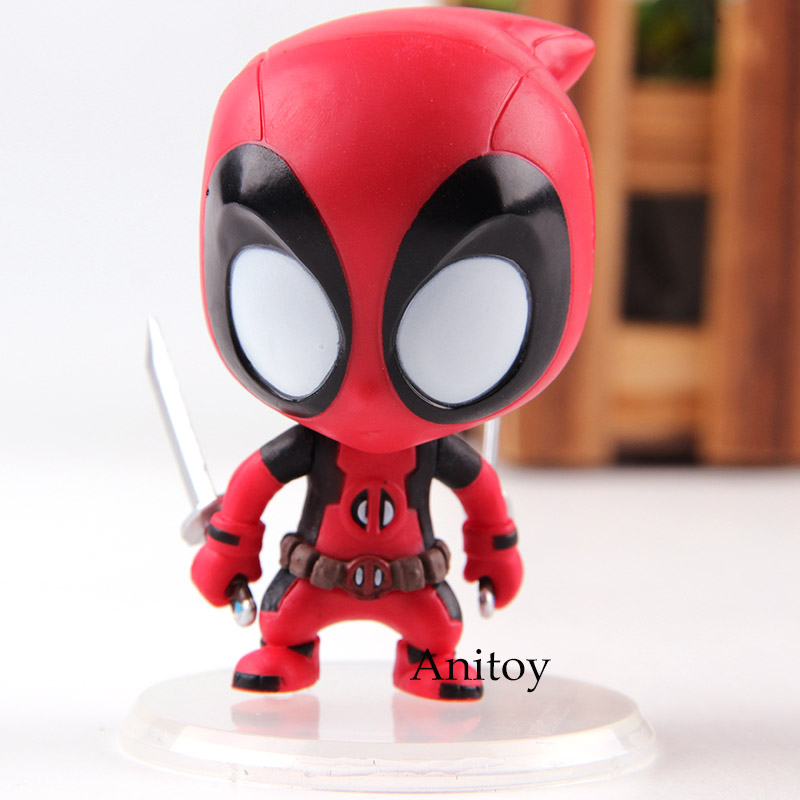 Marvel Kidpool Bobble Head Deadpool PVC Action Figure Car Decoration Doll Collection Model Toys for Boys