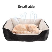 Detachable Pet Dog Beds Mats Waterproof Bottom Soft Fleece Sofa Warm Cat Bed House Kennel Dogs Beds Nest for Small Medium Dogs