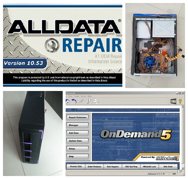 2017 Alldata and Mitchell Software Have Been Installed Well With MINI Desktop Computer Plus <font><b>2000GB</b></font> Hard Disk Ready To Work image
