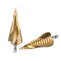 3pcs Lot HSS 4241 Hex Shank Step Cone Drill Bit Set Hole Cutter For Sheet Metal