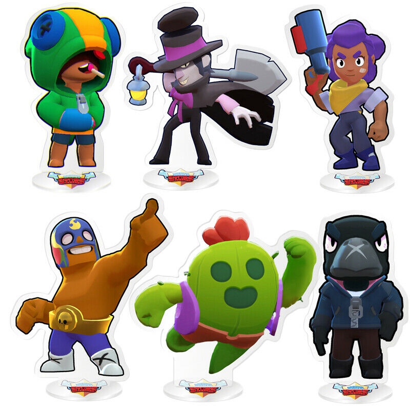 Brawl Stars Action Figure Crow Spike Shelly Leon PRIMO MORTIS Acrylic Model Toy Car phone