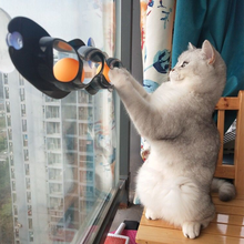 Cat Toys Interactive Track Ball toy practical Window Suction Cup Pet track Accessories 2019 Hot Sale