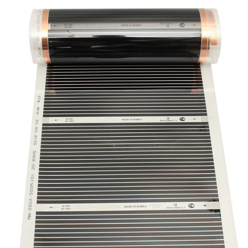 400w/m2 Infrared AC220V Carbon Underfloor Heating Film Energy Saving Warm Mat