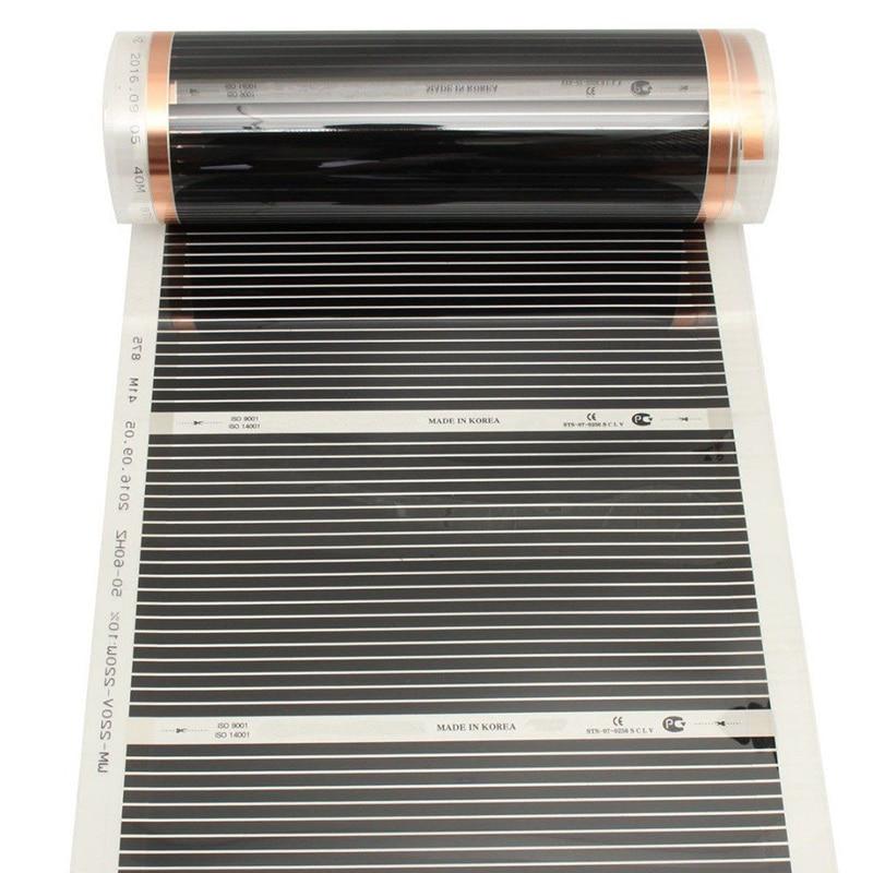 400w/m2 Infrared AC220V Carbon Underfloor Heating Film Energy Saving Warm Mat