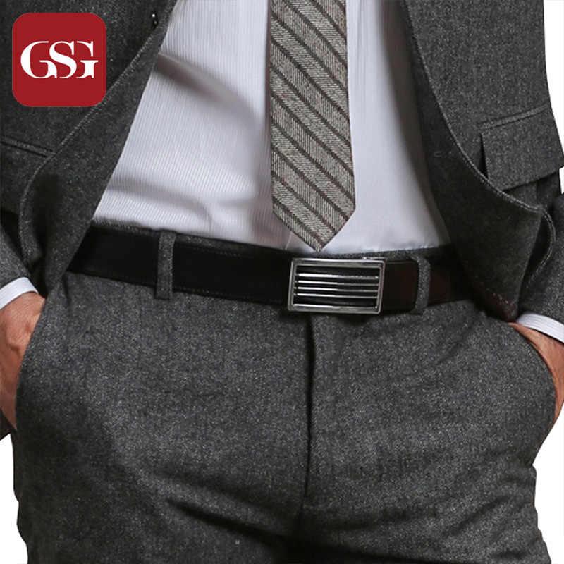 Men Adjustable Waistband Waist Formal Business PU Belt Jean Belt Accessory Gift