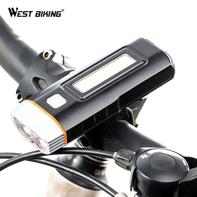 WEST BIKING Bike Cycling LED Light Multifunctional Rechargeable Waterproof Flashlight Bicycle Head Front Lamp Bike Torch Lights wheel up bike head light cycling bicycle led light waterproof bell head wheel multifunction mtb lights lamp headlight m3014