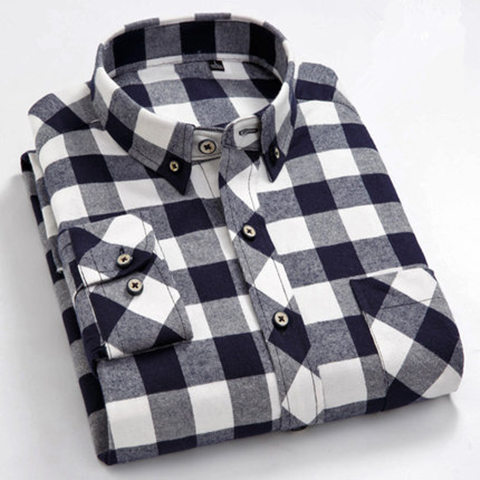 Plus Size 5XL 6XL 7XL 8XL 100% Cotton Plaid Casual Shirt Men Long Sleeved New Spring Business Big Large High Quality Fashion