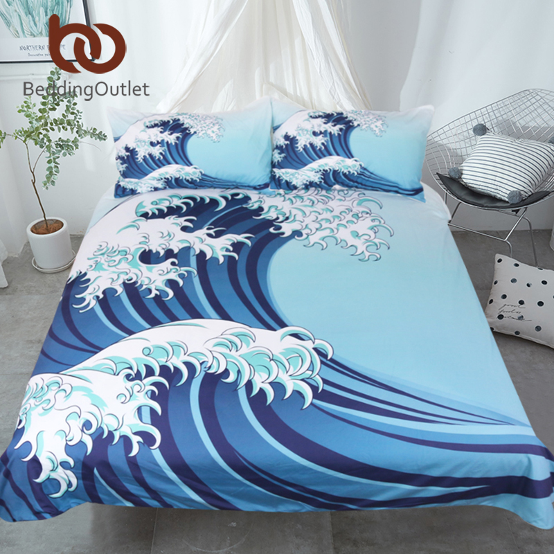 BeddingOutlet Great Waves Bedding Set in a Vintage Style ...