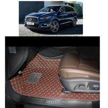 lsrtw2017 fiber leather car interior floor mat and trunk mat for infiniti qx60 2013 2014 2015 2016 2017 2018 2019 jx35 2012