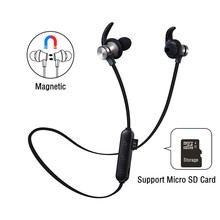 Magnetic In-Ear Wireless Earbuds Bluetooth Earphone with Microphone Waterproof Sport Bluetooth Headset Handsfree Auriculares meelectronics mee audio x6 plus stereo bluetooth wireless sports in ear headphones headset handsfree earphone auriculares inalam